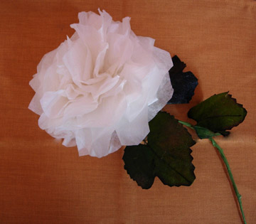 White Rose Tissue Paper Flower