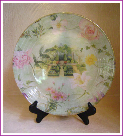Decoupage Under Glass The Artful Crafter