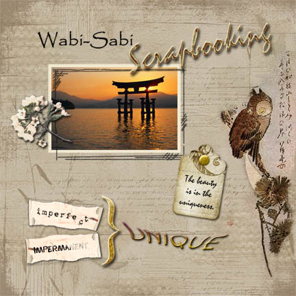 Wabi-Sabi Digital Scrapbooking Example