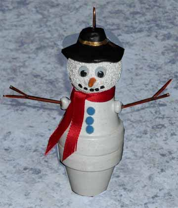 The Artful Crafter & Clay Pot Snowman Plus More Characters - The Artful Crafter