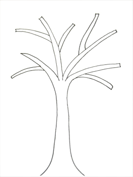 Wall Hanging Tree Template