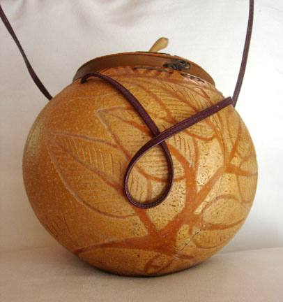 Engraved Gourd Purse