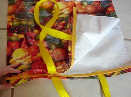 oilcloth zippered tote bag2