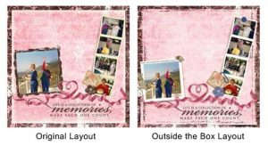 Scrapbooking Outside the Box: Before & After