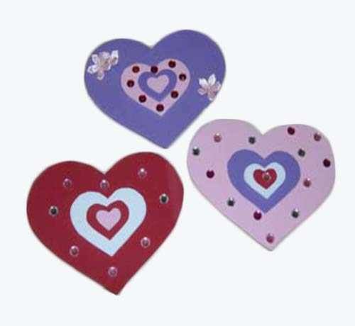 Valentine Foam Heart Magnets The Artful Crafter